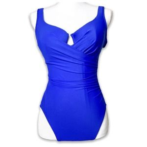 NEW Miraclesuit One Piece Royal Blue 10